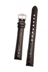 Hirsch 'Crocograin' Black Leather Strap, 9mm