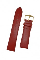 Hirsch 'Umbria ' M Red Leather Strap, 18mm
