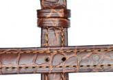Hirsch 'Aristocrat' 16mm Brown Leather Strap
