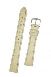 Hirsch 'LouisianaLook' M Beige Leather Strap, 14mm