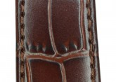 Hirsch 'LouisianaLook' Brown Leather Strap, 22mm