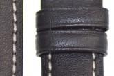 Hirsch 'Heavy Calf' 26mm Black Leather Strap