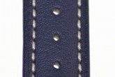 Hirsch 'Heavy Calf' 20mm Blue Leather Strap