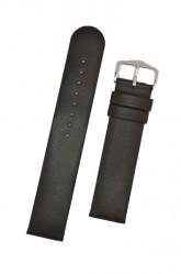Hirsch 'Scandic' Black, leather watch strap 24mm