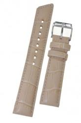 Hirsch 'Princess' Beige watch strap 18mm