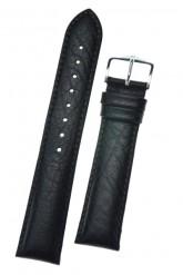 Hirsch 'Highland' M Black, leather watch strap 16mm