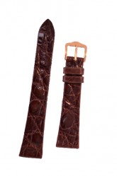 Hirsch 'Prestige' M 18mm Brown Leather Strap