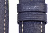 Hirsch 'Heavy Calf' 26mm Blue Leather Strap