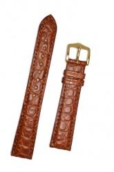 Hirsch 'Regent' M Golden Brown Leather Strap, 16mm