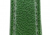 Hirsch 'Osiris' Green Leather Strap, 14mm
