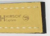 Hirsch 'Capitano' 22mm Matt Black Alligator Leather Strap