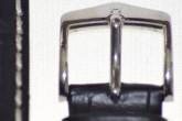 Hirsch 'Modena' Black Leather Strap, 24mm