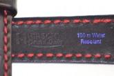 Hirsch 'Grand Duke' XL High Tech 22mm Black Leather Strap