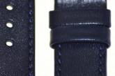Hirsch 'Osiris' Blue Leather Strap, 16mm