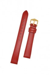 Hirsch 'Umbria ' M Red Leather Strap, 12mm