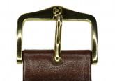 Hirsch 'Umbria ' M Brown Leather Strap, 18mm