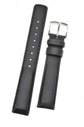 Hirsch 'Runner' 20mm Black Leather Strap