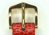 Hirsch 'Rainbow' M Red Leather Strap, 16mm