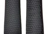 Hirsch 'Lizard' 18mm Burgundy Leather Strap