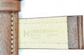 Hirsch 'Buffalo' L 20mm Brown Leather Strap