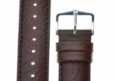 Hirsch 'Highland' Brown, Leather Watch Strap 18mm