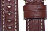 Hirsch 'Knight' 20mm Golden brown leather strap