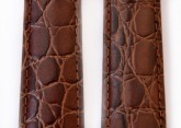 Hirsch 'Crocograin' Brown Leather Strap, 12mm