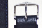 Hirsch 'Osiris' L Blue Leather Strap, 20mm