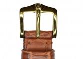Hirsch 'London' M Golden Brown Leather Strap, 14mm