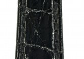 Hirsch 'Genuine Croco' M 13mm Black Leather Strap