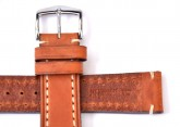 Hirsch 'Liberty' 18mm Golden Brown Leather Strap