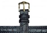 Hirsch 'Aristocrat' 22mm Black Leather Strap