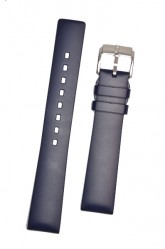 Hirsch 'Pure' 20mm Blue Rubber Strap