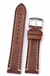 Hirsch 'Liberty' 20mm Brown Leather Strap