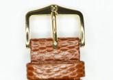 Hirsch 'Rainbow' M Golden Brown Leather Strap, 16mm