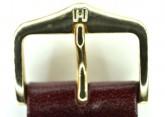 Hirsch 'Osiris' L Burgundy Leather Strap, 18mm