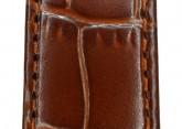 Hirsch 'LouisianaLook' M Brown Leather Strap, 16mm