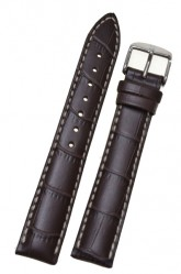 Hirsch 'Modena' Brown Leather Strap, 18mm