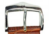 Hirsch 'Modena' Golden Brown Leather Strap, 24mm