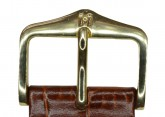Hirsch 'LouisianaLook' Brown Leather Strap, 18mm