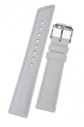Hirsch 'Princess' White Leather Strap, 20mm