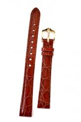 Hirsch 'Crocograin' Tan Leather Strap, 14mm