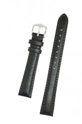 Hirsch 'Highland' M Black, Leather Watch Strap 14mm