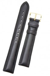 Hirsch 'Ascot' 20mm Black Leather Strap
