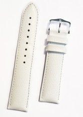 Hirsch 'Kansas' White Calf Leather Strap, 22mm