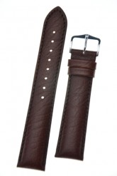 Hirsch 'Highland' L Brown, leather watch strap 24mm