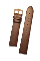 Hirsch 'Diamond Calf'' Brown Leather Strap,L,  18mm