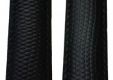 Hirsch 'Rainbow' Black Leather Strap, 20mm