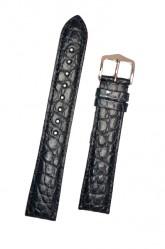 Hirsch 'Regent' Blue Leather Strap, 18mm