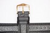 Hirsch 'Camelgrain' L 17mm Black Leather Strap